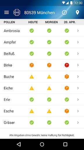 Pollenflug-Vorhersage  screenshots 3