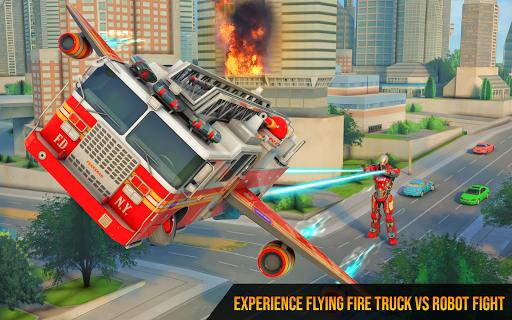 Flying Firefighter Truck Transform Robot Games 26 screenshots 6