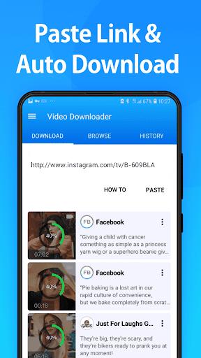 Video Downloader for Facebook  screenshots 1