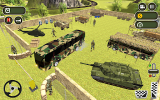 Army Bus Driving 2020 US Military Coach Bus Games