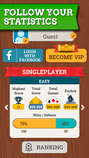 Euchre Free: Classic Card Games For Addict Players 3.7.6 screenshots 6