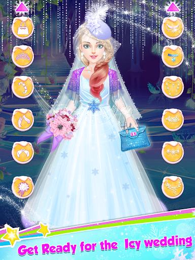 Ice Princess Wedding Dress Up Stylist 0.8 screenshots 2