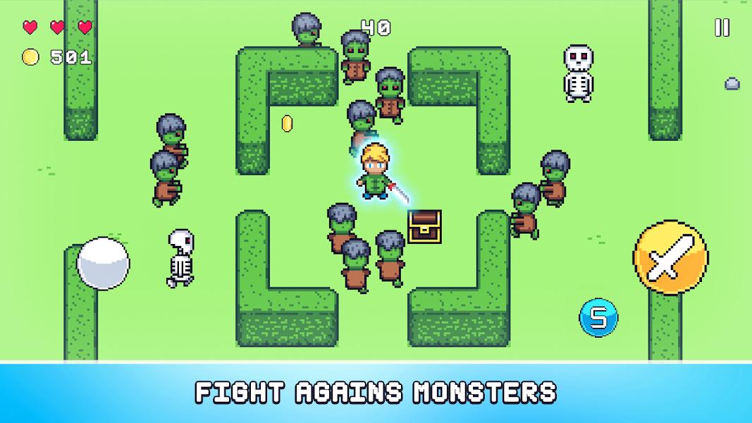Pixel Legends: Retro Survival Game