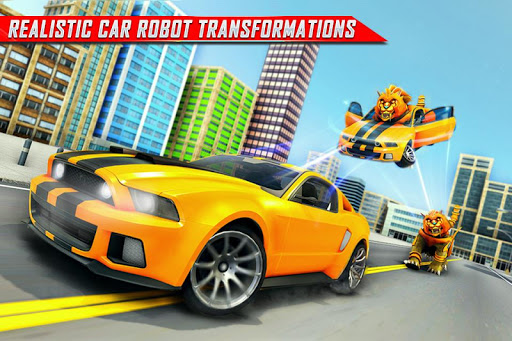 Lion Robot Car Transforming Games: Robot Shooting 1.8 Screenshots 2