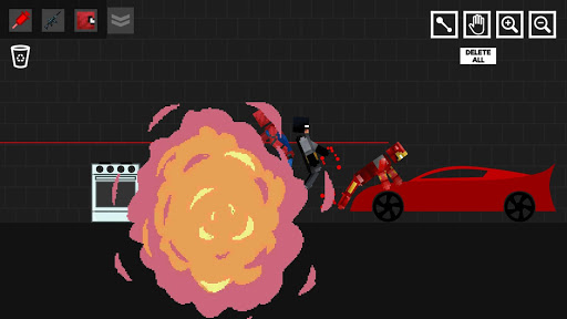 Spider Ragdoll Playground: Iron Human apkpoly screenshots 7