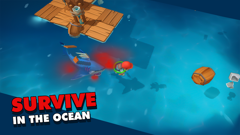 Epic Raft: Fighting Zombie Shark Survival  poster 0