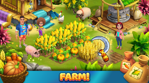 Bermuda Farm: City Building & Farming Island Games apkpoly screenshots 1