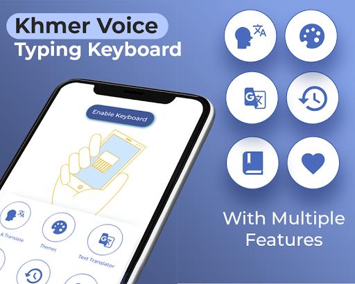 Khmer Voice Typing Keyboard – Speech to text App 1.5.2 screenshots 1