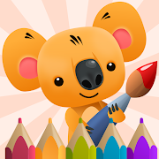 Сoloring Book for Kids with Koala