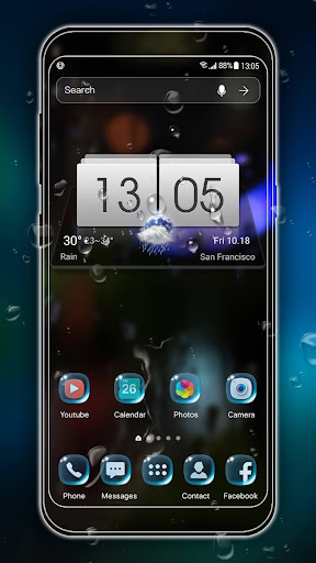 rainy launcher theme &wallpaper screenshot 1