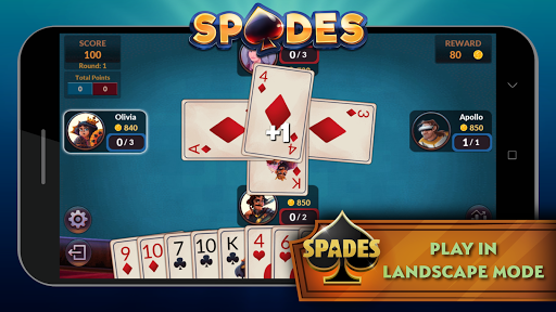 Spades - Offline Free Card Games android2mod screenshots 6