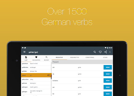 German Verb Conjugator Screenshot