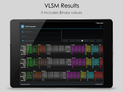 VLSM Calculator Screenshot
