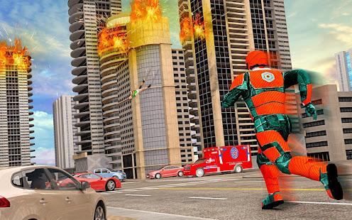 US Light Robot  Speed Hero :City Rescue Mission screenshots 5