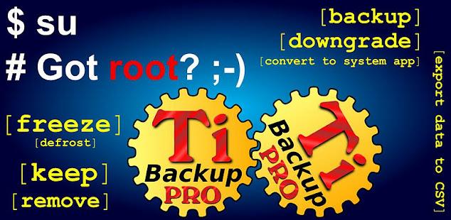 Скриншот №1 к Titanium Backup PRO Key ★ root needed