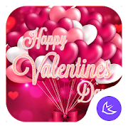 Red Rose Valentines Day Theme—APUS Launcher