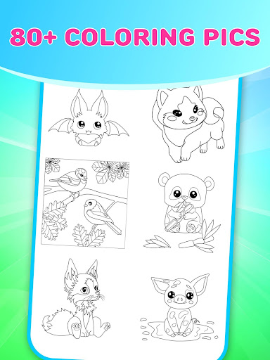 Flower Magic Color-kids coloring book with animals 3.7 screenshots 10