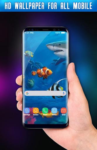 Fish Live Wallpaper 3D Aquarium Background HD 2021 apktram screenshots 9