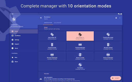 Rotation | Orientation Manager apktram screenshots 17