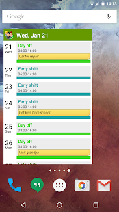 Shift Work Calendar (FlexR Pro) Screenshot