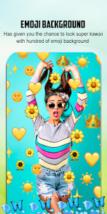 Emoji Background Photo Editor Screenshot