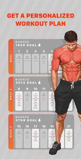 Workout Planner by Muscle Booster 1.7.7 Screenshots 2