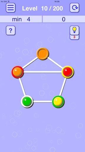 balls lines holes: slide puzzle screenshot 1