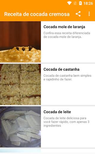 receita de cocada cremosa 1.0.5 screenshots 1