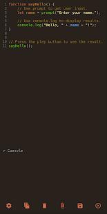 JavaScriptエディター-外出先でJavaScriptコードを実行する
