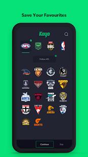 Kayo Sports - for Android TV screenshots 7