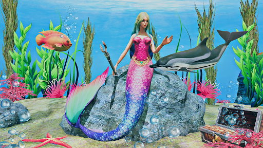 Mermaid Simulator 3D - Sea Animal Attack Games  screenshots 4