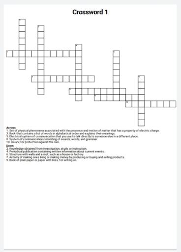 English Crossword Maker 2.0.1 screenshots 1