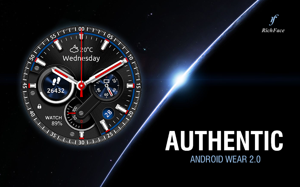 Authentic Watch Face Android App Screenshot