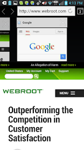 Webroot SecureWeb Browser