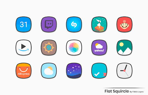 Flat Squircle Apk- Icon Pack (Paid) Download 3