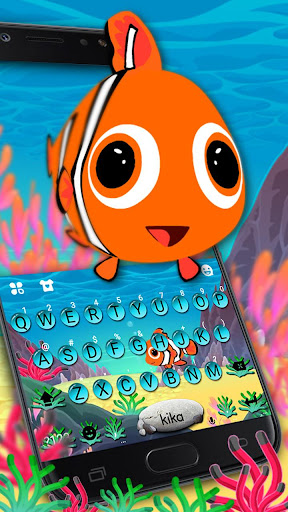 Animated Crown Fish Keyboard Theme 1.0 screenshots 2
