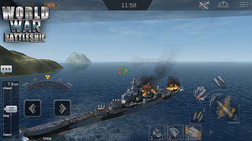 Télécharger World War Battleship- Agression Marin Jeu de tir APK MOD 1