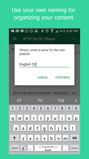 Foto do IPTV Manager for VL Player