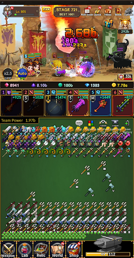 Weapon Heroes : Infinity Forge(Idle RPG) 0.9.053 screenshots 8
