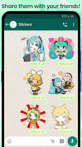 VOCALOID MIKU Stickers for WhatsApp 1.2 screenshots 4