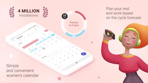 Period tracker for women. Ovulation calculator 2.12 Screenshots 1