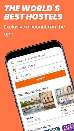 Hostelworld: Hostels & Backpacking Travel App android2mod screenshots 1