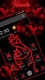 Red Finger heart Love Theme 1.1.9 [Mod + APK] Android 2