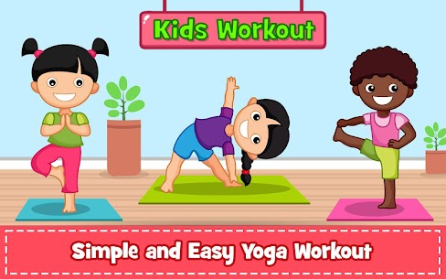 Yoga for Kids and Family fitness – Easy Workout 1