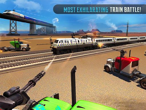Police Train Shooter Gunship Attack : Train Games  Screenshots 6