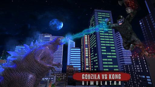 Godzilla & Kong 2021: Angry Monster Fighting Games 3 screenshots 10