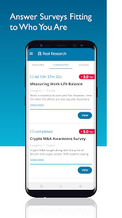 Real Research Survey App
