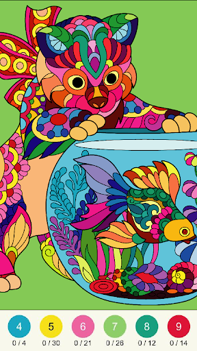 Wonder Color - Color by Number Free Coloring Book 53 screenshots 8