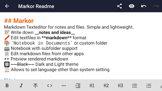 Markor: Markdown Editor - todo.txt - Notes Offline Screenshot