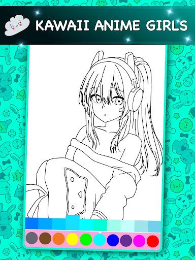 Kawaii - Anime Animated Coloring Book  screenshots 2